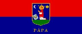 Pápa város zászlója